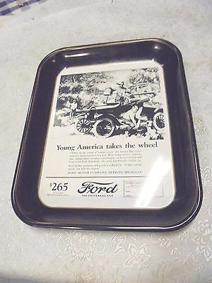 metal tin tray vintage 1924 model T ford motor company detroit michigan