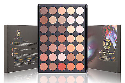 Party Queen 35 Color Makeup Eyeshadow Palette Shimmer Waterproof Nature Glow