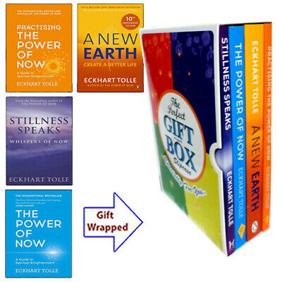 Eckhart Tolle Collection Power Of Now 4 Books(A New Earth)Gift Wrapped Slipcase