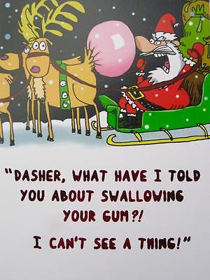 """""""Dasher, What Did I Say About Swallowing Gum!"""" RPG PAPYRUS Funny Christmas CARD"""