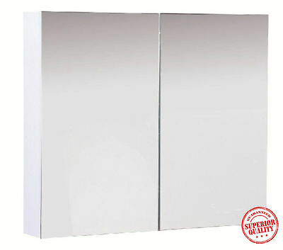 Bathroom Mirror Cabinet Shaving & Storage Wall Mounted Double Door 750Mm