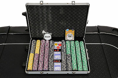 PRE-ORDER: Tournament Poker Chips - 1000 Piece Numbered Poker Set - High Numbers