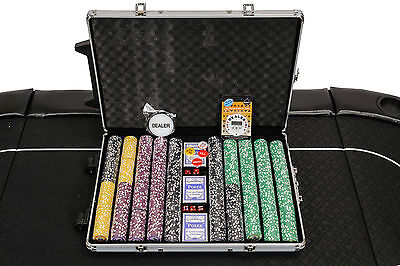 Tournament Poker Chips - 1000 Piece Numbered Poker Set - High Numbers