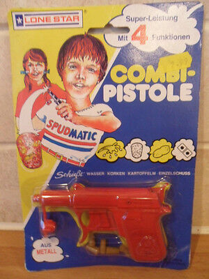 Lone Star Metal Spudmatic Combi Pistole In Sealed Packet From 1986 Free Post