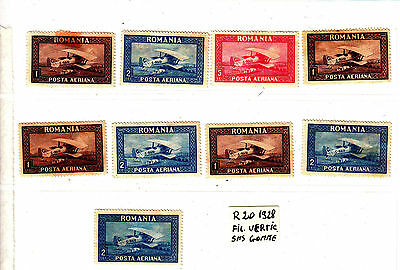 ROMANIA Old Stamps Roumanie Aerian 1928 fil.vertical sans gomme   Lot R 20