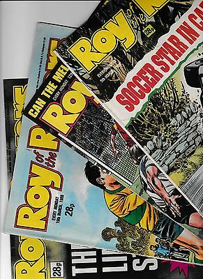 4 x ROY OF THE ROVERS COMICS FOR THE MONTH OF MARCH 1988 IN GOOD CONDITION