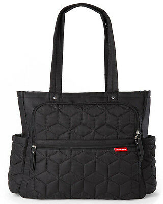 Skip Hop Forma Pack & Go Tote Baby Diaper Bag Tote w/ Changing Pad Black NEW