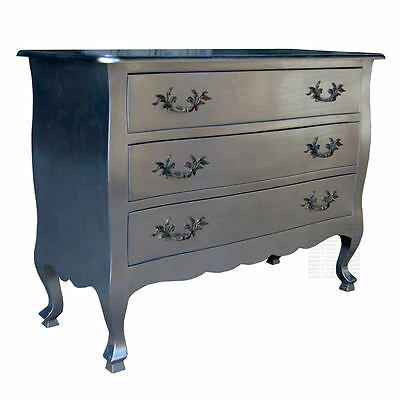 French Chest of Drawers - Silver Leaf