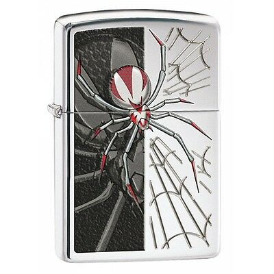 Zippo Spider High Polish Chrome Regular Lighter Brand New