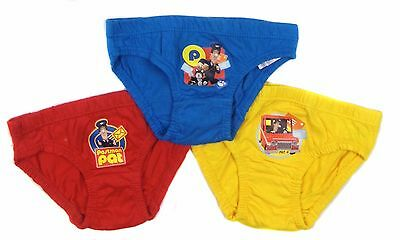 Boys Postman Pat 3 Pack Briefs Underpants 18-24 Month to 4-5 Years 100% Cotton