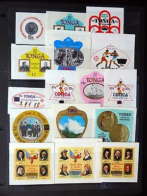 TONGA 1978 Surcharges (16 Values) Cat £39 U/M NEW PRICE FP8376