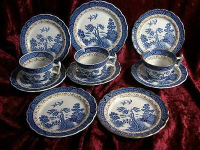 Job Lot Booths Real Old Willow China Cups Saucers Plates BowlsA8025 Blue & White