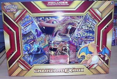 Pokemon Charizard-EX Box featuring limited edition Fire Blast EX + 4 boosters