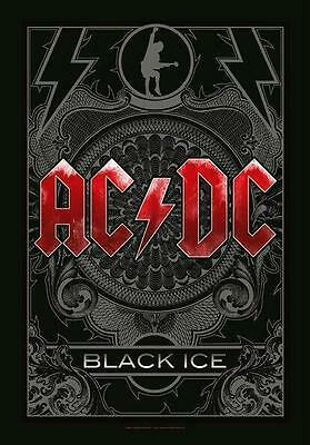 """Ac/dc Flagge / Fahne """"black Ice"""" Poster Flag Posterflagge"""