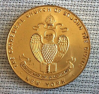 U.s.a,usa,the Cathedral Church Of St.john The Divine Commemorative Medallion.