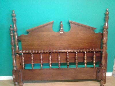 Good quality colonial  style cherry wood  5' kingsize bed bedstead extra long