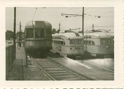 6J352 RP 1950s SHAKER HEIGHTS OH RAPID TRANSIT CAR #12 + TWO MORE