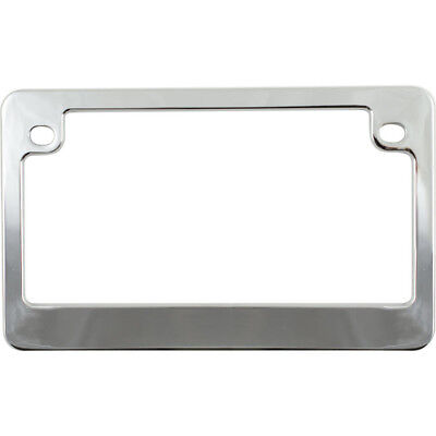 Chrome Metal License Plate Tag Frame for Motorcycle-Bike-Chopper-Scooter