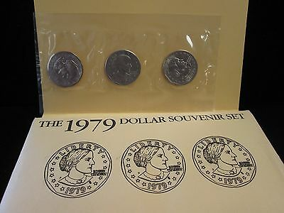 1979 Susan B. Anthony Dollar Souvenir Set - B211