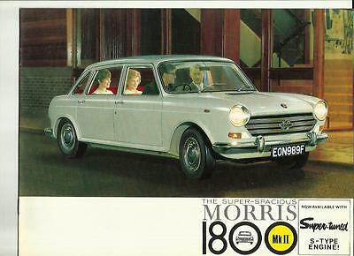 BMC MORRIS 1800 Mk II  SALES BROCHURE SEPTEMBER 1968 FOR 1969 MODEL YEAR