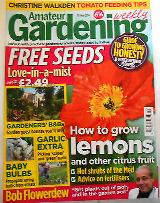 Amateur Gardening Magazine May 31st 2014 Lemons Garlic Bulbs Ponds Rhododendrons