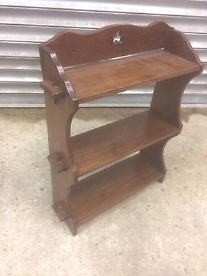 Charming old antique Victorian Mahogany Whatnot Shelf display