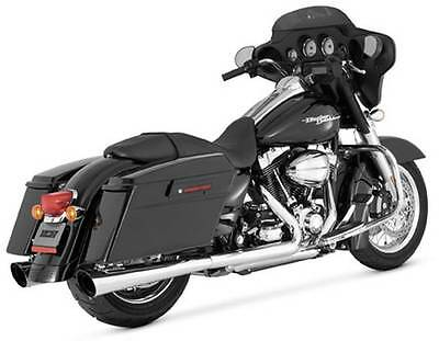 Vance And Hines Tapered Slash Cut Dual Slip-On Exhaust/Mufflers, Chrome, #16741