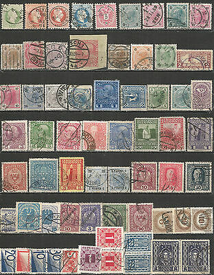 Austria old nice Collection used stamps