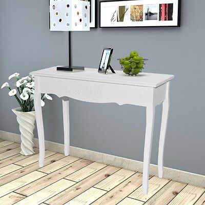 Shabby Chic White Console Table Side End Dressing Desk Hallway Entryway Lamp