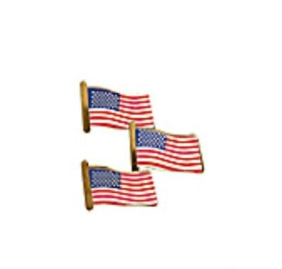 """24 American USA Flag Pins 7/8"""" - Share your patriotism!  Includes 24 Pins!"""