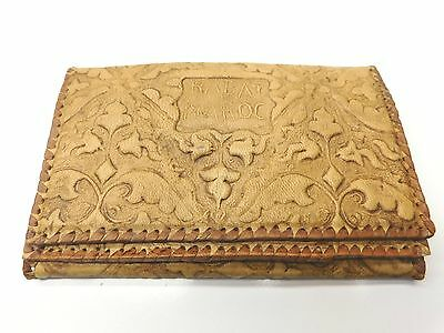 Vintage Hand Tooled Leather Wallet 1985 Rabat Maroc Wallet