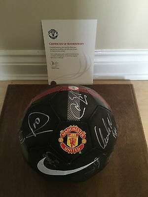 Manchester United Autographed Signed Football 2012 In Display Case