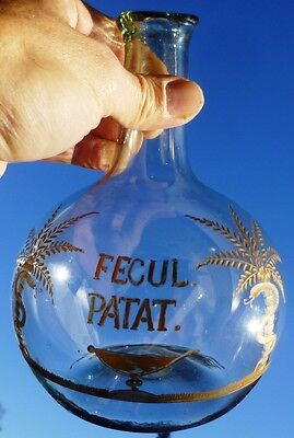 RARE ONION Pontil BALL BOTTLE DEMIJOHN GLASS APOTHECARY CHEMIST JAR VESSEL AQUA