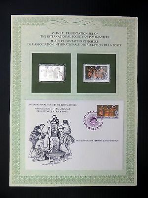 TONGA 1983 Commonwealth Day Official Folder with Sterling Silver Edition FP8416