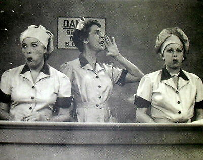 "1952 I Love Lucy Candy Factory Job 11X14"" B&w Photo/print/poster Free S&h M"