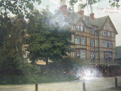 RARE VINTAGE POSTCARD.. 'ROYAL FOREST HOTEL, CHINGFORD, nr EPPING FOREST