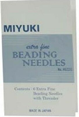 Beading Needles Miyuki Extra-Fine Size 11 with Threader