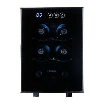 Haier HVTEC06ABS Thermoelectric 6-Bottle Wine Cellar with Electronic Controls
