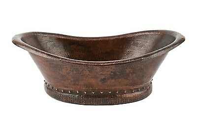 Premier Copper Bath Tub Vessel Hammered Copper Sink