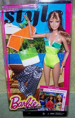 Barbie Style Glam Vacation Doll New