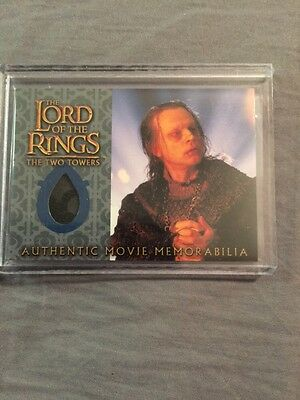 TOPPS LOTR Movie Memorabilia Fabric Costume Card Wormtongue's Velvet Underfrock