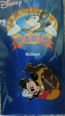 COLLECTORS  Disney Store 12 Months of Magic Pin-Michigan-Mickey - mint, sealed