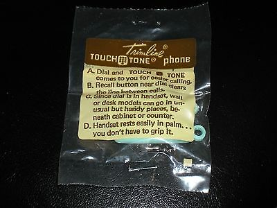 Vintage Bell Systems Mini Phone Keychain Teal Trimline Touch Tone (New In Pack)