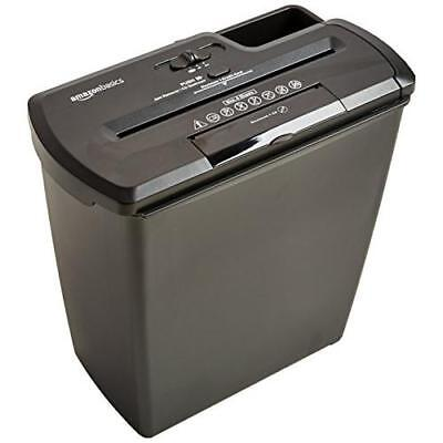 AmazonBasics 8-Sheet Strip-Cut Paper, CD, and Credit Card Shredder New
