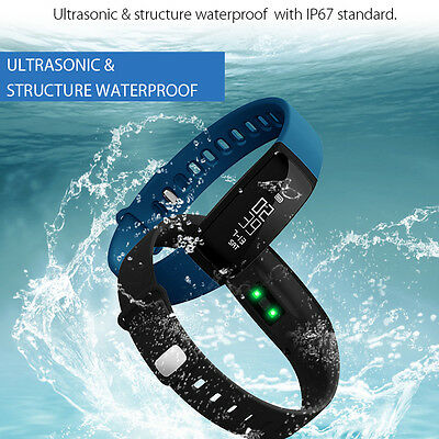 IP68 Smart Heart Rate Bracelet Watch Bluetooth SMS/Call Fitness Activity Tracker