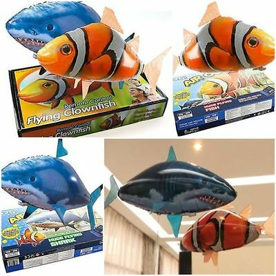 Air Swimmer Remote Control RC Flying Inflatable Fish Shark Blimp Balloon TOY GDS