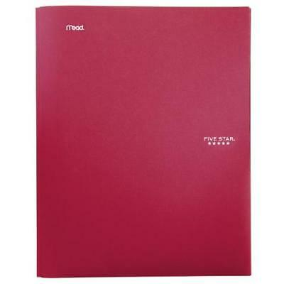 Five Star Stay-Put Pocket Folder, 11.62 x 9.31 x .25 Inches, Red (72109) New