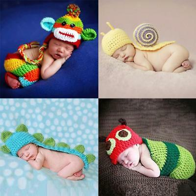 Cute Newborn Baby Crochet Photography Photo Props Outfits Baby Costume