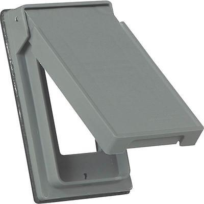 """Decorative Non-Metallic Weatherproof Outlet Cover, 4-3/4"""" L x 2.95"""" W S2966 Gray"""