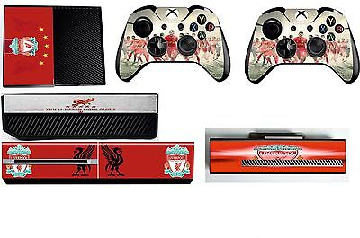 LIVERPOOL FC  xbox one skins decals stickers + kinect + 2 controllers